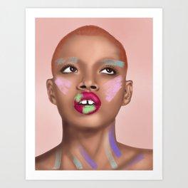 Colorful Face Art Print