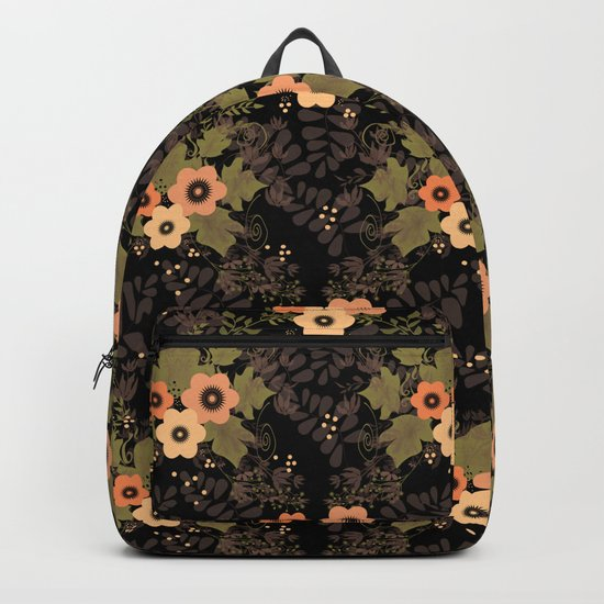 The floral pattern . Backpack