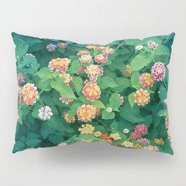 Mediterranean Flowers and Foliage Pillow Sham