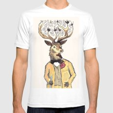 Stag Do MEDIUM Mens Fitted Tee White