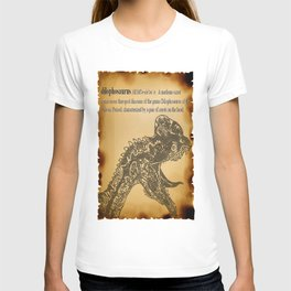 Dilophosaurus Dictionary T-shirt