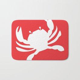 Nautical Crab Beach Decor Bath Mat