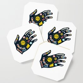 Positivity – Helping Hand Coaster