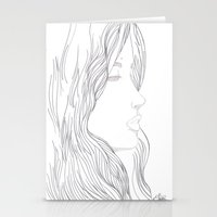 art nouveau Stationery Cards featuring Art Nouveau by YriArt