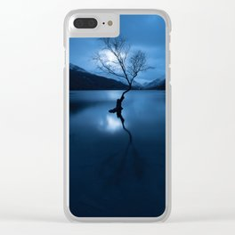 lonely tree snowdonia Clear iPhone Case