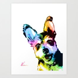 Bunker the Dog   Pop Art Art Print