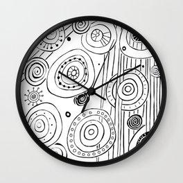 Intergalactic - Black on White Wall Clock