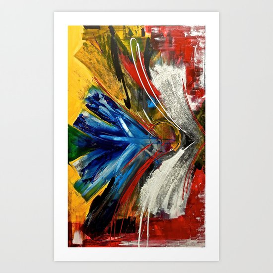Focus Finish - colorful abstract painting Art Print