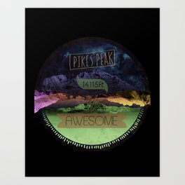 Pikes Peak Graphic Art Print