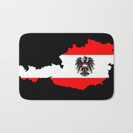 Austrian Flag and Map Bath Mat