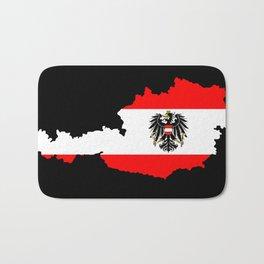 Austrian Flag and Map Bath Mat