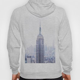 New York City - Manhattan Cityscape - Empire State Building Photograph Hoody