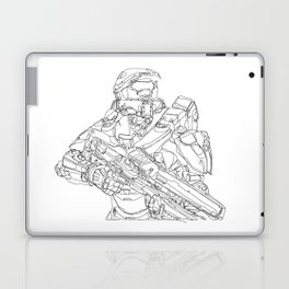 HALO Master Chief continuous line Laptop & iPad Skin
