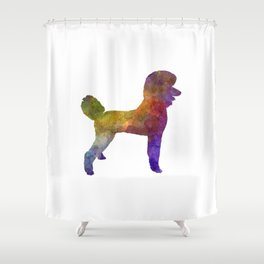 Poodle 01 In Watercolor Shower Curtain