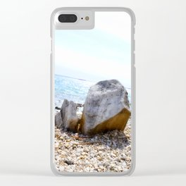 A Rock's Perspective Clear iPhone Case