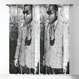 James Baldwin - Society6 Art Fly Couture 1980 Blackout Curtain