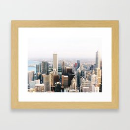 Chicago Illinois Aerial View Framed Art Print