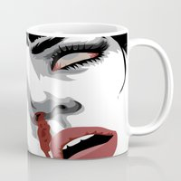 mia wallace Mugs featuring There goes mrs. Mia Wallace by The Headless Fish