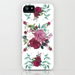 Floral Pattern with Arrows iPhone Case