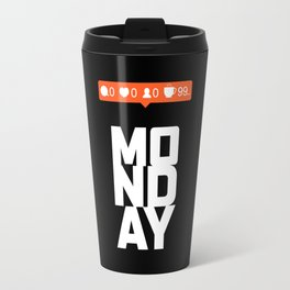 No one likes Monday, but coffee is great Travel Mug