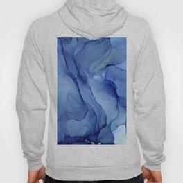 Blue Ultramarine Ink Painting Hoody
