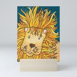 Zulu - A Not Very Ferocious Lion Mini Art Print