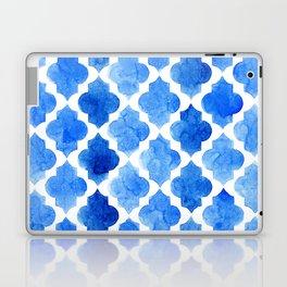 Quatrefoil pattern in shades of blue Laptop & iPad Skin