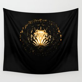 Lamp in the dark Wall Tapestry