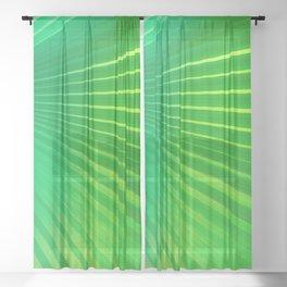 Palm Tree Leaf Sheer Curtain