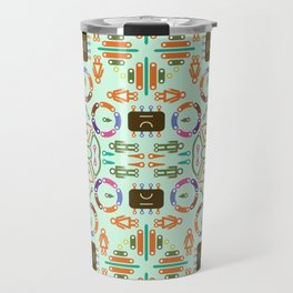 """Seamless pattern in the style of """"printed circuit board"""" Travel Mug"""