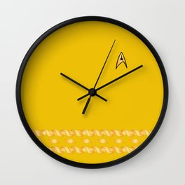 Star Trek TOS Yellow Captain Uniform Wall Clock