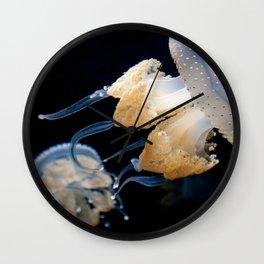 Jellyfish Swimming - Underwater Photography Wall Clock