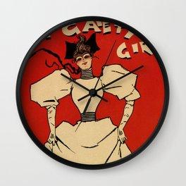 A Gaiety girl musical advertising Wall Clock