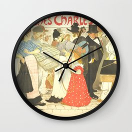 "Théophile Steinlen ""The Street (La rue), poster for the printer Charles Verneau"" Wall Clock"