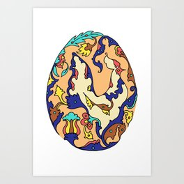 Persian Motif Egg Art Print