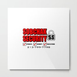 Security Systems Metal Print