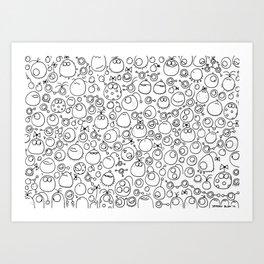Munnen - Ouch 1 Art Print