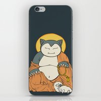 snorlax iPhone & iPod Skins featuring Hotei Snorlax by Mallory Hodgkin