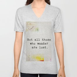Travellers quote 3 Unisex V-Neck