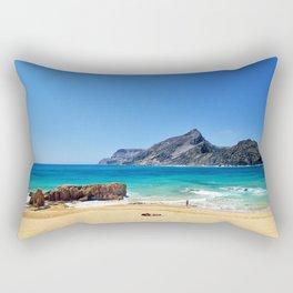 Sunny beach on Porto Santo (RR 276) Rectangular Pillow