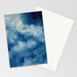 Deep Blue Cloud Painting Stationery Cards