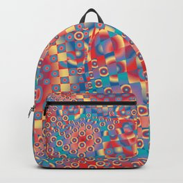 retro psychedelic Backpack