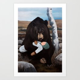 The baby on the tundra Art Print
