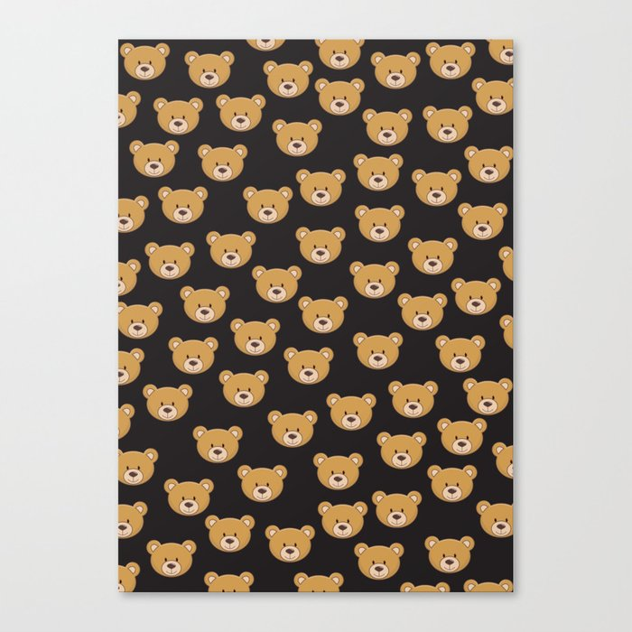 teddy bear pattern Canvas Print