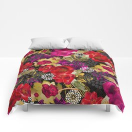 Flowers with Lace and Dots 2 Comforters