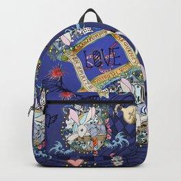 RABBIT Navy in the matrix of love Backpack