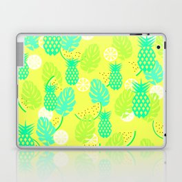 Watermelons and pineapples in yellow Laptop & iPad Skin