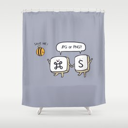 Save the bees jpg Shower Curtain