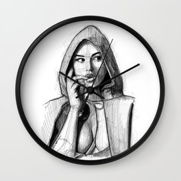 Monica Bellucci - Little Red Riding Hood Wall Clock