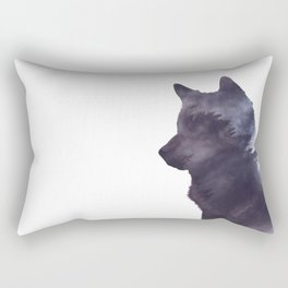 Dark Forest Wolf Rectangular Pillow